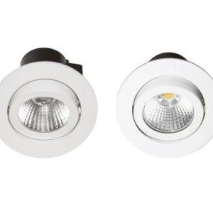 Éclairage interieur -INDAL spot encastré LED avec driver intégré IP23 7W 600Lm 230V 3000K Blanc