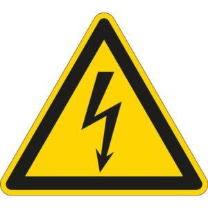 Éclairage de sécurité -Pictogramme d'avertissement - Danger électrique
