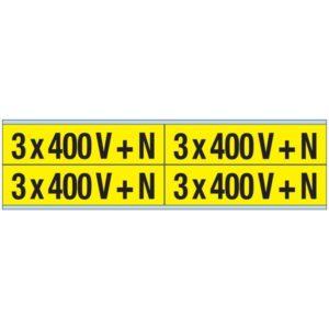 Éclairage de sécurité -Marqueurs de tension-CV 3x 400 V + N-B