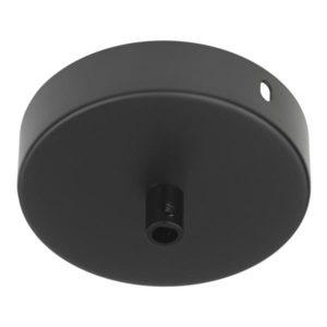 Accessoires -Rosace en métal noir 100x25mm noir