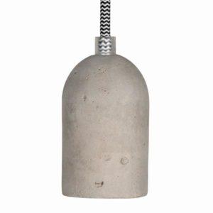 Éclairage interieur -Douille set béton E27+1.5m noir/blanc Câble textile 2x0,75mm² complet max 60W