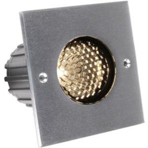 Éclairage extérieur -Advance S Square COB encastré de sol LED 24° 7W 3000K 550lm anti-glare IP67 inox