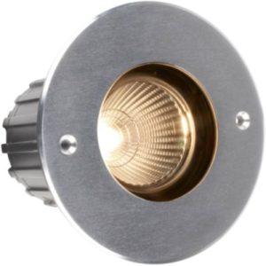 Éclairage extérieur -Advance S Round COB encastré de sol LED 24° 7W 3000K 700lm IP67 inox