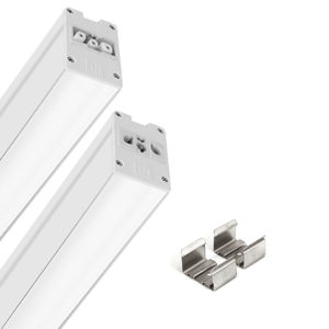 Éclairage interieur -Mini LED FL 15W 3000K 589mm Flat Opale Cont Line Sym Extra Wide Blanc