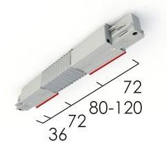 Éclairage interieur -Raccord flexible blanc RAL9016