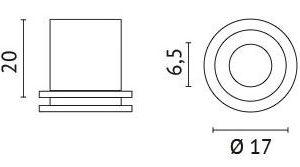 Éclairage interieur -Raccord de montage M10 pour tige à fils blanc RAL9016
