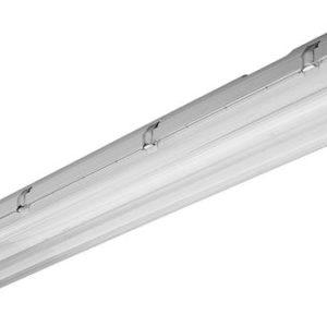 Luminaire étanche -Luminaire étanche type fermé polycarbonate 2xLED 600mm IP65 clips inox