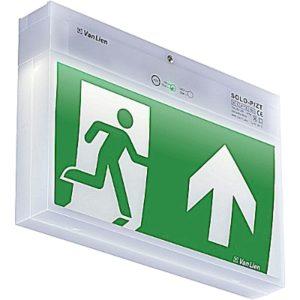 Éclairage de sécurité -Solo LED chemin de fuite décentral 2W 3u P apparent autotest