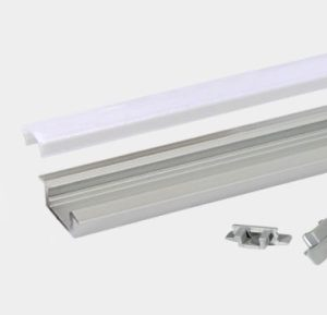 Accessoires -Profile led encastré RSL7 en aluminium anodisé AL6063. Kit complet avec profile