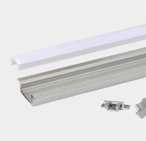 Accessoires -Profile led encastré RSL7 en aluminium anodisé AL6063 en finition blanche RAL901