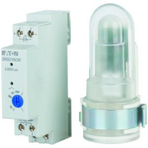 Gestion d'éclairage -Schemerschakelaar met sensor, 2-2000 lux, 16A, 230VAC, 1TE