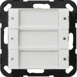 Domotique -BP Tastsensor 2 3x 24V libre de pot. Système 55 blanc transparent