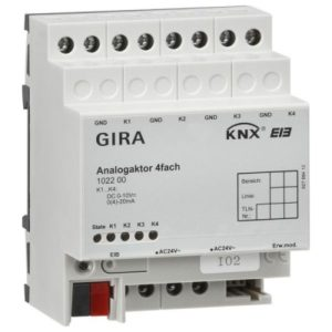 Domotique -Actionneur analog. 4x KNX/EIB DIN