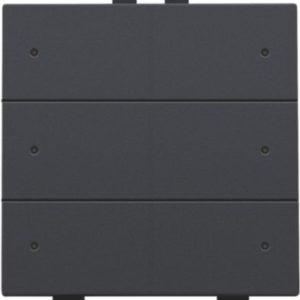 Domotique -Home Control commande d' éclairage sextuple avec led, anthracite