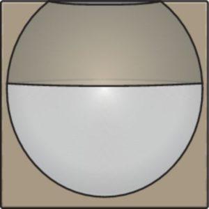 Domotique -Home Control plaque centrale détecteur de mouvement enc. 180°, bronze