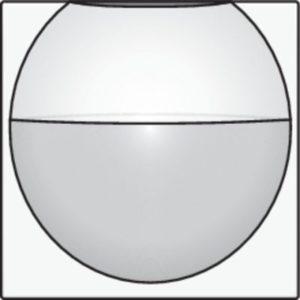 Domotique -Home Control plaque centrale détecteur encastré 180°, white steel