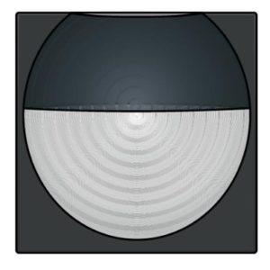 Domotique -Home Control plaque centrale détecteur de mouvement encastré 180°, noir