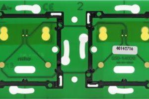 Domotique -Home Control platine murale double horizontal: entraxe 71mm