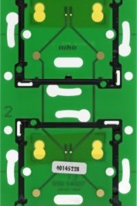 Domotique -Home Control platine murale double vertical: entraxe 71mm