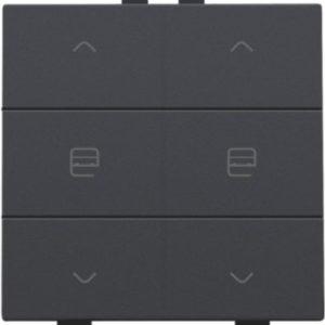 Domotique -Home Control commande double moteur avec touche sixtuple, anthracite
