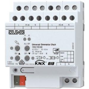Domotique -KNX Actionneur variateur universel 2 voies 300VA
