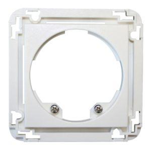 Détecteurs de présence / mouvement -Adaptateur 45x45 mm pour Indoor 140-L, blanc signalisation RAL 9016 mat