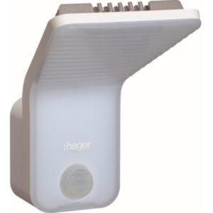 Détecteurs de présence / mouvement -Lampe LED avec détecteur de mouvement IR 140° intégré