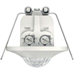 Détecteurs de présence / mouvement -Détect. présence BLANC encastré 360° 1 can. 8m IP20 200W LED