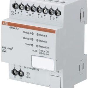 Domotique -Servocommande thermoélectrique 4-voies, 0-10V, 0-20mA, MDRC