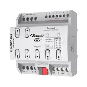 Domotique -Lumento DX4 LED dimmer DIN rail