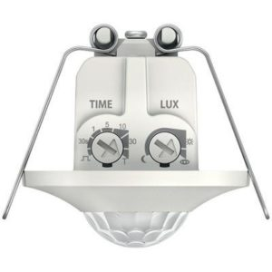 Détecteurs de présence / mouvement -Détect. mouvement BLANC encastré 360° 1 can. 8m IP20 200W LED