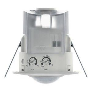 Détecteurs de présence / mouvement -Détect. mouvement compact BLANC encastré 360° 1 can. 8m IP44 400W LED