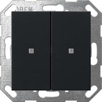Domotique -Bouton-poussoir KNX bascule 2x System 55 noir m