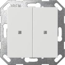 Domotique -Bouton-poussoir KNX bascule 2x System 55 blanc pur m