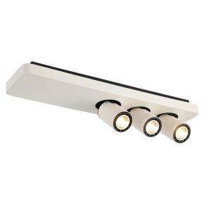 Éclairage interieur -NYSIT - 3x GU10 4,5W - acier - 2800K - 500mm x 120mm x 120mm- noir/ blanc/ blanc