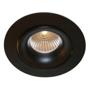 Éclairage interieur -TETIZ orientable - encastré - GU10 - alu / plexi - max 50W - 85mm x 25mm - blanc