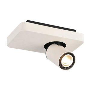 Éclairage interieur -NYSIT - 1x GU10 4,5W - acier - 2800K - 200mm x 120mm x 120mm- noir/ blanc/ blanc