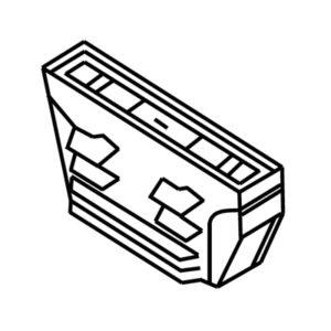 Accessoires -TRACK 3-phase mini connecteur linéaire - noir