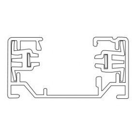 Accessoires -TRACK 2-phase - aluminium - max 16A - longueur 1930mm - 35mm x 18mm - noir