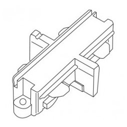 Accessoires -TRACK 2-phase mini connecteur liniaire - blanc