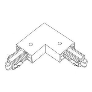 Accessoires -TRACK 2-phase L-connecteur - terre interieur - terre blanc