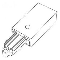 Accessoires -TRACK 2-phase alimentation droite - blanc