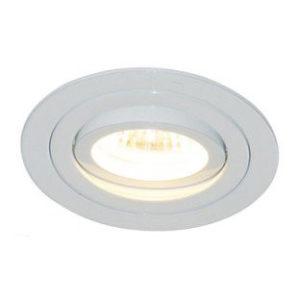 Éclairage interieur -LINUX rond - GU10 - alu - 5W - dia 90mm x 70mm - blanc