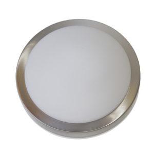 Éclairage interieur -SEDNA - 2x E27 - acier / verre - max 40W - dia 325mm x 105mm - acier brossé