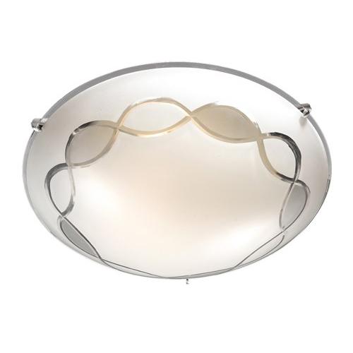 Éclairage interieur -SIRI - 1x E27 - acier / verre - max 60W - dia 250mm x 85mm - chromé