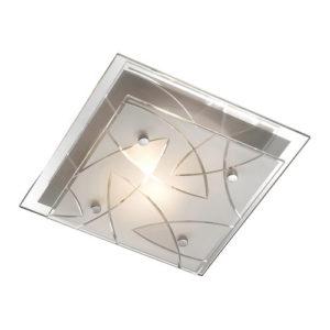 Éclairage interieur -ASARI - 1x E27 - acier / verre - max 60W - 240mm x 240mm x 85mm - chromé