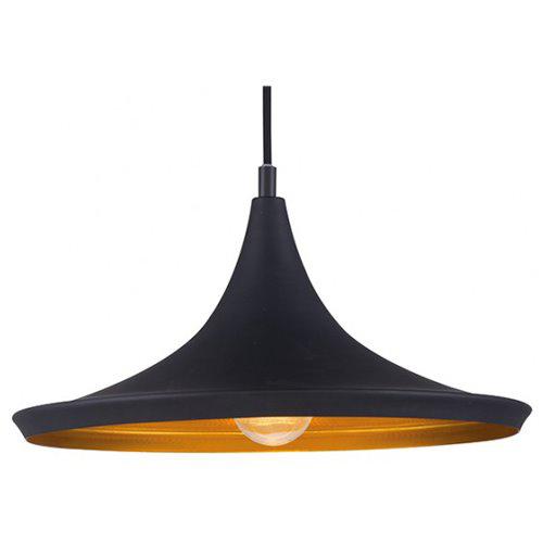 Éclairage interieur -IDRIS - 1x E27 - acier / verre - max 60W - dia 360mm x 1200mm - noir mat / or
