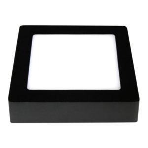 Éclairage interieur -FLUKE carré - 12W - acier / plexi - 960lm - 175mm x 175mm x 35mm - noir mat