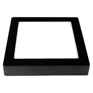 Éclairage interieur -FLUKE carré - 18W - acier / plexi - 1440lm - 235mm x 235mm x 35mm - noir mat