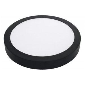 Éclairage interieur -FLUKE CCT rond - 24W - acier / plexi - 1920lm - dia 300mm x 35mm - noir mat